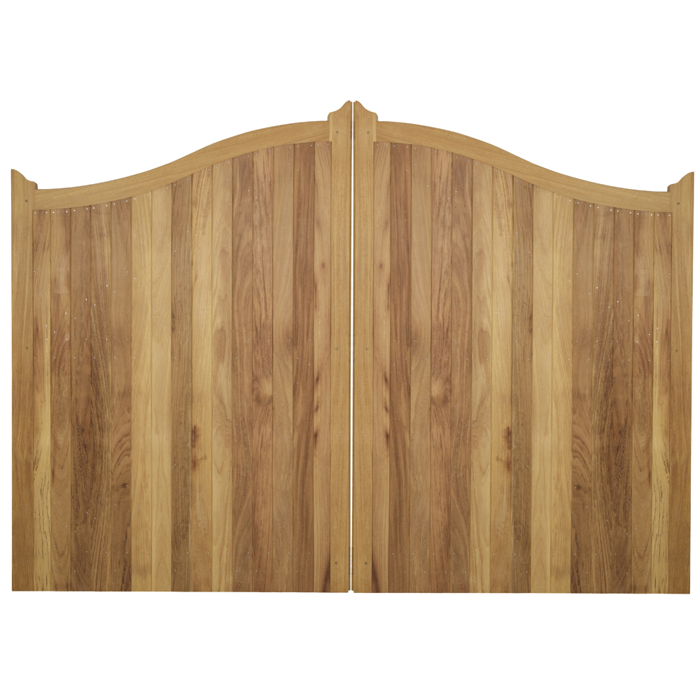 Highmore solid boarded gate with curved top