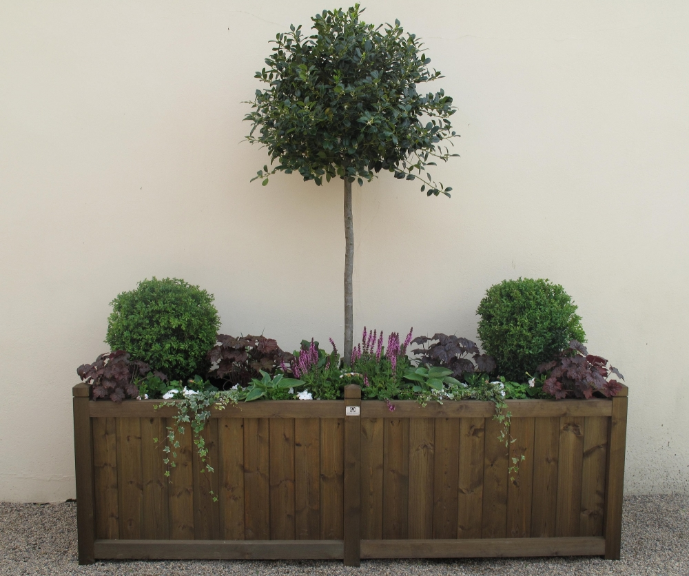 Extra large rectangular planter made to any size in softwood or hardwood